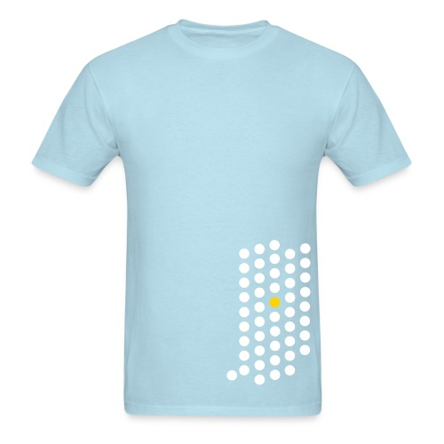 Men's T-Shirt - Indianapolis, Indiana themed abstract dot design from City State Tees. 2 color front print design on a heavyweight 100% cotton shirt. Choose your very own color shirt!