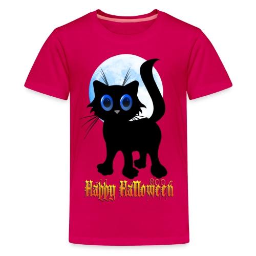 Happy Halloween Black Kitten - Kids' Premium T-Shirt