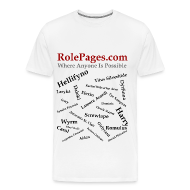 T-Shirts ~ Men's Premium T-Shirt ~ RolePages Character Name Shirt 3 - 10/17/11