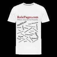 T-Shirts ~ Men's Premium T-Shirt ~ RolePages Character Name Shirt 3 - 10/17/11