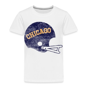 Vintage Chicago Football Helmet - Toddler Premium T-Shirt