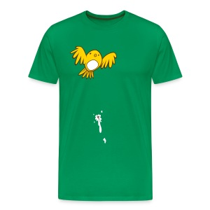 Men's Premium T-Shirt - It's a beautiful day in the neighborhood until shit happens. If this has ever happened to you or someone you know, then this is a must buy! This hilarious pretty bird poop shirt is available in an assortment of colors and styles, including kid sizes!