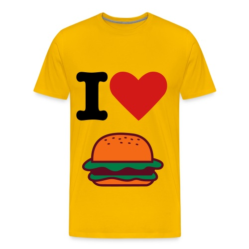 I Love Hamburger - Men's Premium T-Shirt