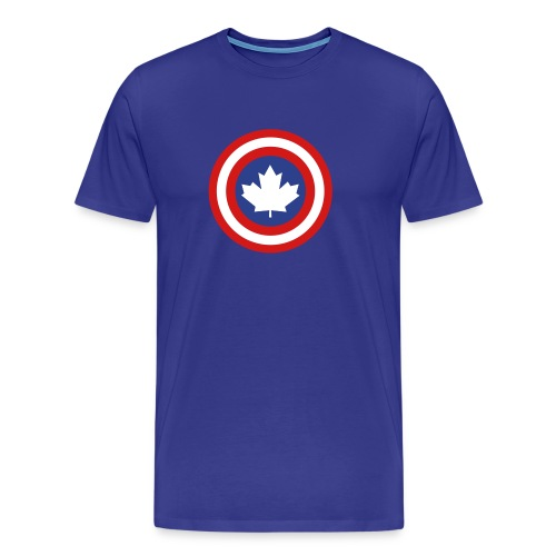 Captain Canada Shield 3 Colour - Men's Premium T-Shirt