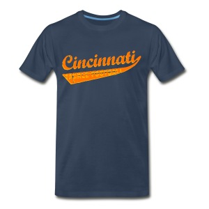 Men's Premium T-Shirt - 3XL-4XL. Who dey! Carson Palmer is outta here and your Cincinnati Bengals are playoff bound! You might think Mike Brown may sucks, but this funny Cincinnati tackle football shirt certainly doesn't! Available in several colors, sizes, and styles, including babies and even dogs! Cincinnati is not only a kick ass city, it's the home town of Flying Pigs, Alternative Motive and the Cincinnati Bengals.