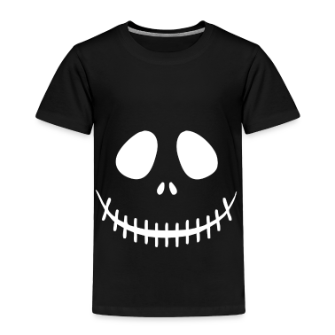 Skeleton Face Toddler Shirts