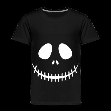 Skeleton Face Toddler Shirts