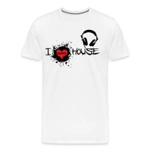I LOVE HOUSE HEAVYWEIGHT TEE - Men's Premium T-Shirt