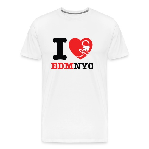 I LOVE EDMNYC HEAVYWEIGHT TEE - Men's Premium T-Shirt
