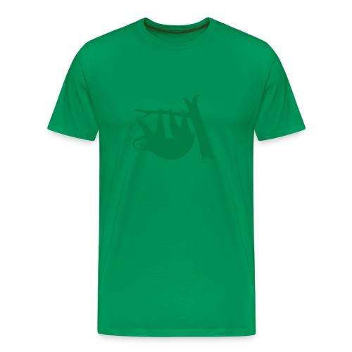shirt sloth freeclimber climbing freeclimbing boulder rock mountain mountains hiking rocks climber - Men's Premium T-Shirt