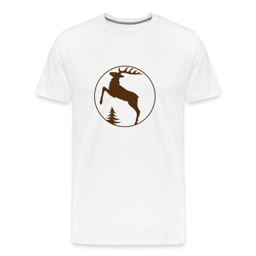 t-shirt stag deer moose elk antler antlers horn horns cervine hart bachelor party hunting hunter - Men's Premium T-Shirt