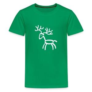 t-shirt stag deer moose elk antler antlers horn horns cervine hart bachelor party hunting hunter - Kids' Premium T-Shirt