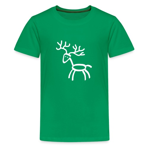 t-shirt stag deer moose elk antler antlers horn horns cervine hart bachelor party hunting hunter - Kids' Premium T-Shirt