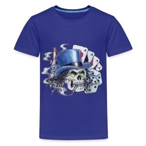 Poker Skull Tattoo - Kids' Premium T-Shirt