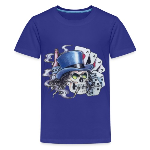 Poker Skull Tattoo - Kids' Premium T-Shirt
