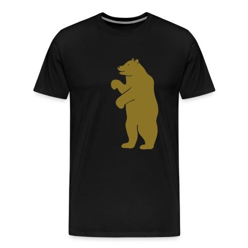 t-shirt bear beer berlin  strong hunter hunting wilderness grizzly predator animal t-shirt - Men's Premium T-Shirt