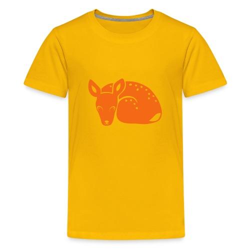 t-shirt fawn kid deer timid cute bambi animal baby - Kids' Premium T-Shirt