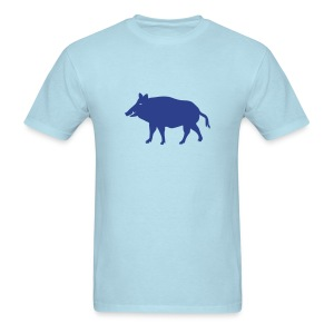 t-shirt wild boar hunter hunting forest animals nature pig rookie shoat - Men's T-Shirt
