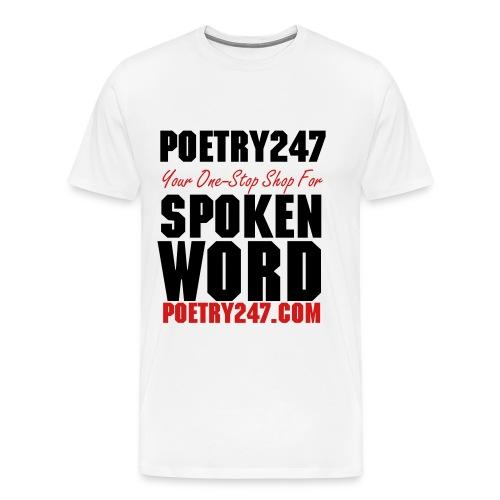 Men's - Spoken Word (White) - Men's Premium T-Shirt