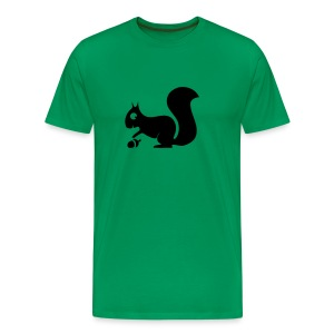 t-shirt squirrel acorn chipmunk tree forest animal - Men's Premium T-Shirt