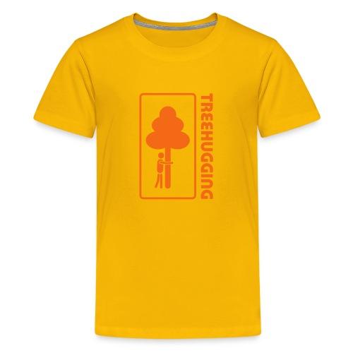 t-shirt treehugging tree hug treehugger trees forest natur - Kids' Premium T-Shirt