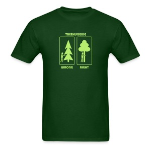 t-shirt treehugging tree hug treehugger trees forest natur - Men's T-Shirt