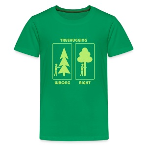 t-shirt treehugging tree hug treehugger trees forest natur - Kids' Premium T-Shirt