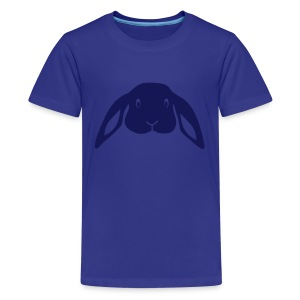 t-shirt rabbit bunny hare ears easter cute puss prey - Kids' Premium T-Shirt