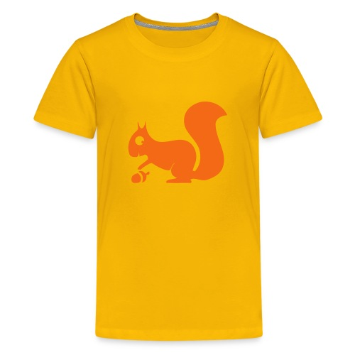 t-shirt squirrel acorn chipmunk tree forest animal - Kids' Premium T-Shirt