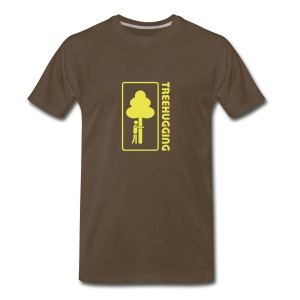 t-shirt treehugging tree hug treehugger trees forest natur - Men's Premium T-Shirt