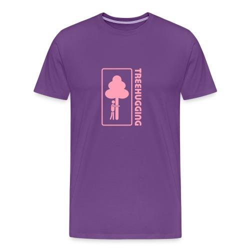 t-shirt treehugging tree hug treehugger trees forest natur - Men's Premium T-Shirt
