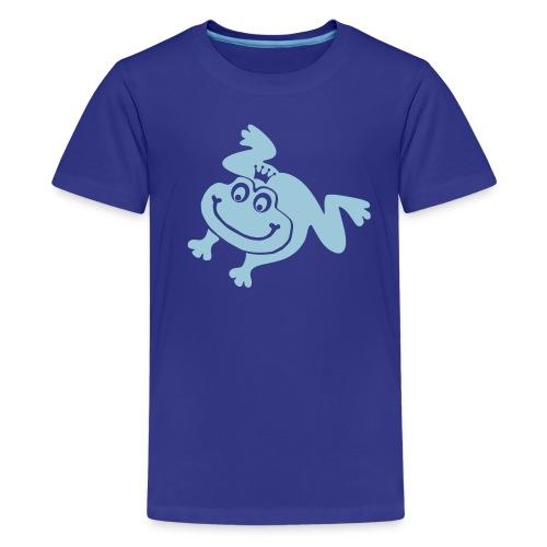 t-shirt frog princess prince kiss me toad squib paddock pout frogmouth mouth lips - Kids' Premium T-Shirt