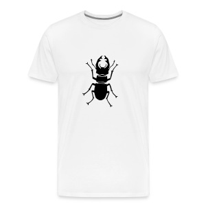 t-shirt stag beetle deer moose elk antler antlers insect stag night bachelor party - Men's Premium T-Shirt