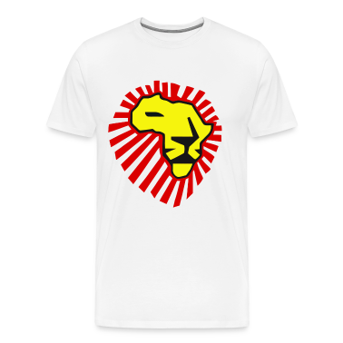 Waka Waka Yellow Lion / Red Mane T-Shirt T-Shirts