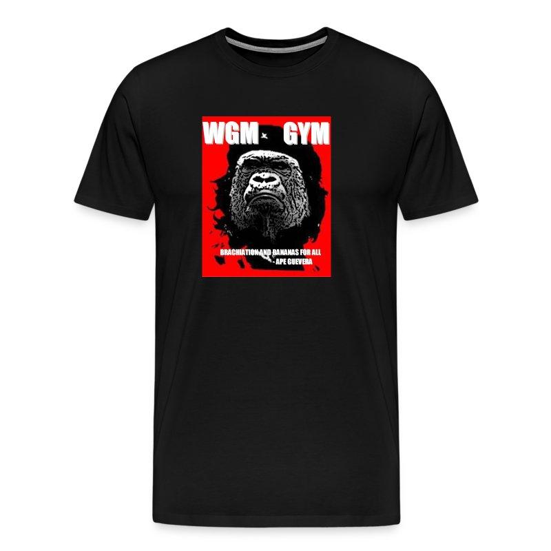 WGM GYM Mens GET STRONGER Performance Cotton Tee - Men's Premium T-Shirt