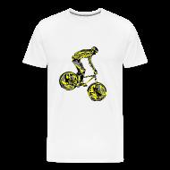 T-Shirts ~ Men's Premium T-Shirt ~ Mountain Biking Shirt - Dirt Bike Design
