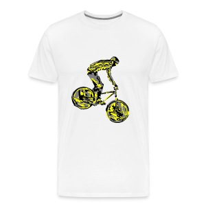 Mountain Biking Shirt - Dirt Bike Design - Men's Premium T-Shirt