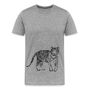 t-shirt tiger cat cheetah lion wild predator hunter hunting - Men's Premium T-Shirt