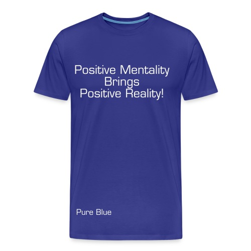 Pure Blue Positive Tee - Men's Premium T-Shirt
