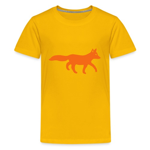 t-shirt fox foxy tod readhead game hunter hunting - Kids' Premium T-Shirt