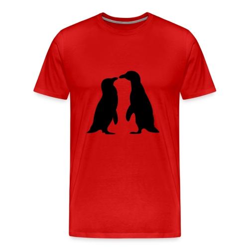 Penguins in Love - Men's Premium T-Shirt