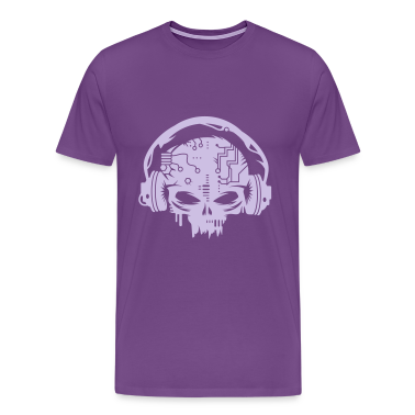 cyber Skull with headphones T-Shirts