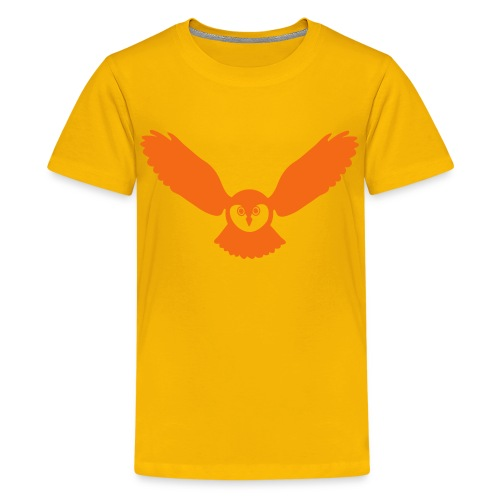 t-shirt owl owlet wings feather hunter night hunt - Kids' Premium T-Shirt