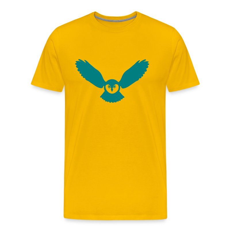t-shirt owl owlet wings feather hunter night hunt - Men's Premium T-Shirt