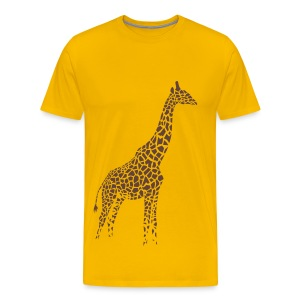 t-shirt giraffe afrika serengeti camelopard safari zoo animal wildlife desert - Men's Premium T-Shirt