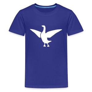 t-shirt goose duck chicken breast rooster wings thanksgiving cooking - Kids' Premium T-Shirt