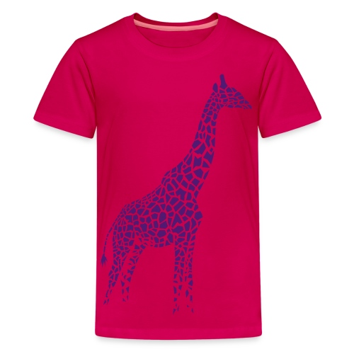 t-shirt giraffe afrika serengeti camelopard safari zoo animal wildlife desert - Kids' Premium T-Shirt