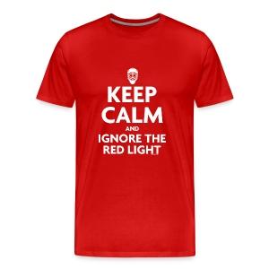 Keep Calm Red T-Shirt - Men's Premium T-Shirt