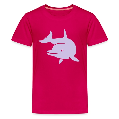 t-shirt porpoise dolphin flipper fin ocean free wild - Kids' Premium T-Shirt