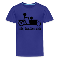 Kids' Shirts ~ Kids' Premium T-Shirt ~ Youth Bakfiets Ride Families
